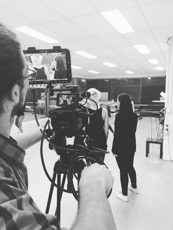 Another sneak peek at the film shoot for Brainstorm for a Cure